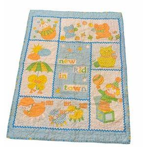 Vintage Baby Blanket Duck Handmade Nursery Quilt